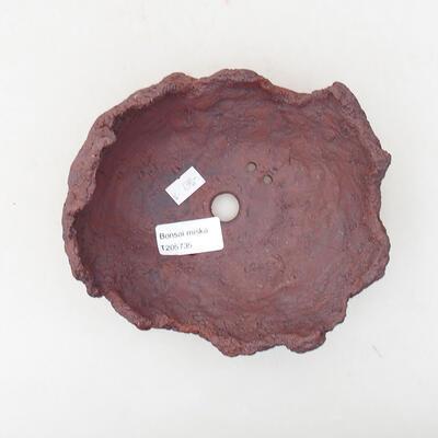 Keramikschale 15 x 13 x 9 cm, graue Farbe - 2