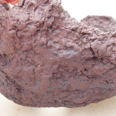 Keramikschale 11 x 10,5 x 11,5 cm, graue Farbe - 2