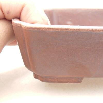 Bonsaischale aus Keramik 15 x 12 x 4,5 cm, Farbe braun - 2