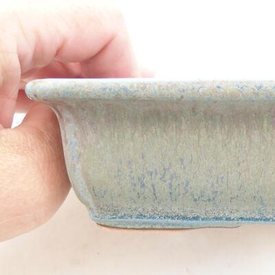 Bonsaischale aus Keramik 13,5 x 9,5 x 4 cm, Farbe blau - 2