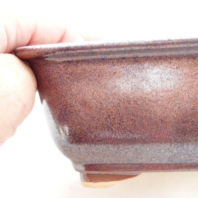 Bonsaischale aus Keramik 13 x 10 x 5,5 cm, braune Farbe - 2