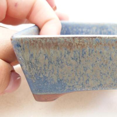 Bonsaischale aus Keramik 12 x 9 x 3,5 cm, Farbe blau - 2