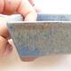 Bonsaischale aus Keramik 12 x 9 x 3,5 cm, Farbe blau - 2/3