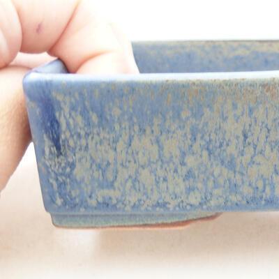 Bonsaischale aus Keramik 13 x 9,5 x 3,5 cm, Farbe blau - 2