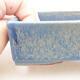 Bonsaischale aus Keramik 13 x 9,5 x 3,5 cm, Farbe blau - 2/3