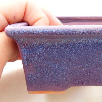 Bonsaischale aus Keramik 11 x 8,5 x 4,5 cm, Farbe lila - 2