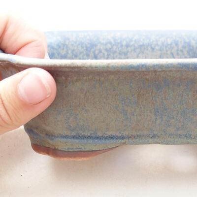 Bonsaischale aus Keramik 15 x 12 x 4,5 cm, Farbe blau - 2