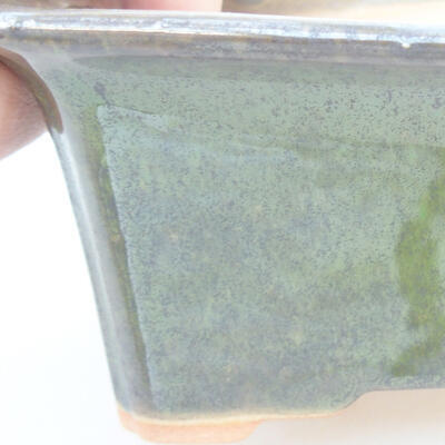 Keramische Bonsai-Schale 18 x 14 x 7 cm, Farbe grün - 2
