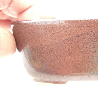 Bonsaischale aus Keramik 12 x 9 x 5 cm, braune Farbe - 2
