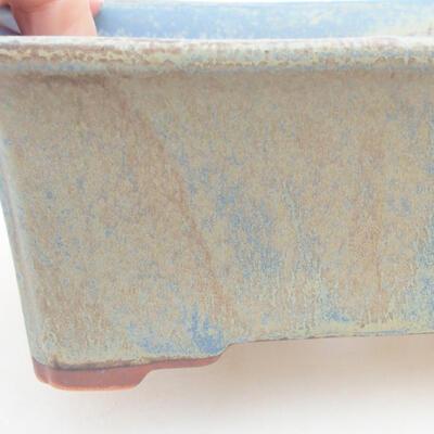 Keramische Bonsai-Schale 18 x 14 x 7 cm, Farbe blau - 2