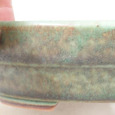 Bonsaischale aus Keramik 13 x 10,5 x 3,5 cm, Farbe grün - 2