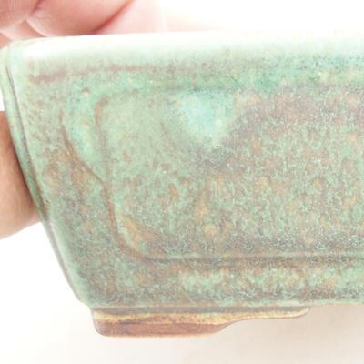 Bonsaischale aus Keramik 12,5 x 9 x 4,5 cm, Farbe grün - 2
