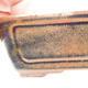 Bonsaischale aus Keramik 12,5 x 9 x 4,5 cm, Farbe braun-schwarz - 2/3