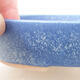 Bonsaischale aus Keramik 17 x 13,5 x 3,5 cm, Farbe blau - 2/3