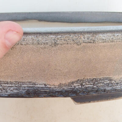 Bonsai-Schale 33 x 25 x 7,5 cm, grau-beige Farbe - 2