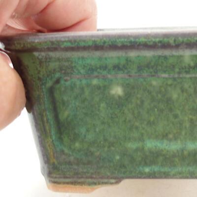 Bonsaischale aus Keramik 13 x 10 x 5 cm, Farbe grün - 2