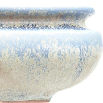 Bonsaischale aus Keramik 15 x 15 x 5,5 cm, Farbe blau - 2