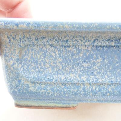 Bonsaischale aus Keramik 16 x 11 x 5 cm, Farbe blau - 2
