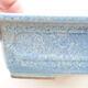 Bonsaischale aus Keramik 16 x 11 x 5 cm, Farbe blau - 2/3