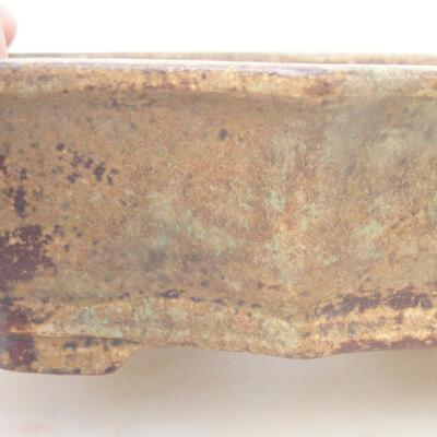 Keramische Bonsai-Schale 14 x 10 x 4 cm, Farbe braun - 2