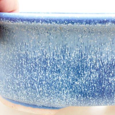 Bonsaischale aus Keramik 22 x 17,5 x 7,5 cm, Farbe blau - 2