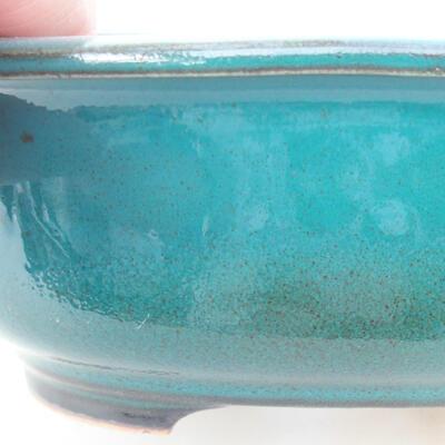 Keramische Bonsai-Schale 14 x 11 x 5,5 cm, Farbe grün - 2