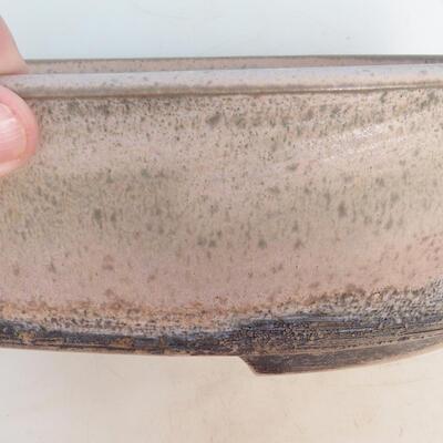 Bonsai-Schale 29 x 23 x 8,5 cm, grau-beige Farbe - 2