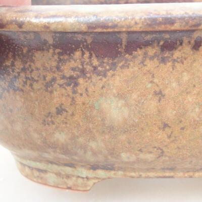 Keramische Bonsai-Schale 14 x 11 x 5,5 cm, braune Farbe - 2