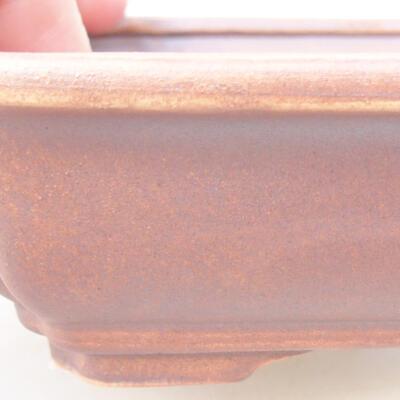 Keramische Bonsai-Schale 17 x 13 x 4,5 cm, graue Farbe - 2