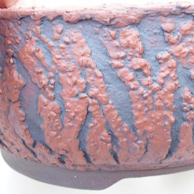 Bonsaischale aus Keramik 18 x 18 x 7 cm, Farbe rissig - 2