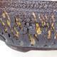 Bonsaischale aus Keramik 18,5 x 18,5 x 6 cm, Farbe rissig - 2/4