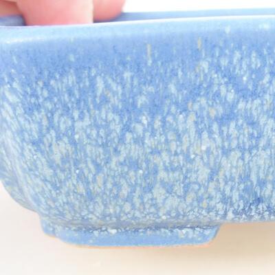 Keramische Bonsai-Schale 15 x 11,5 x 4 cm, Farbe blau - 2
