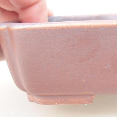 Keramische Bonsai-Schale 15 x 11,5 x 4 cm, braune Farbe - 2