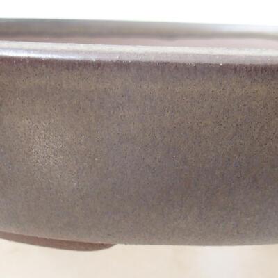 Bonsaischale aus Keramik 18 x 18 x 4 cm, Farbe braun - 2