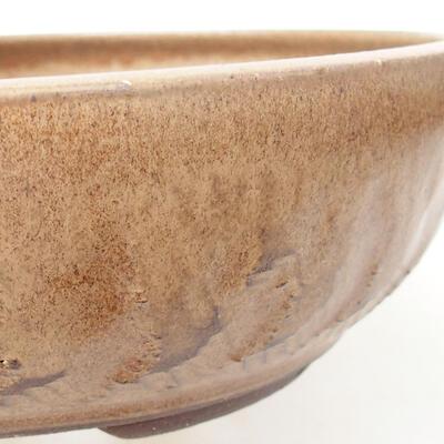 Bonsaischale aus Keramik 20 x 20 x 6 cm, braune Farbe - 2