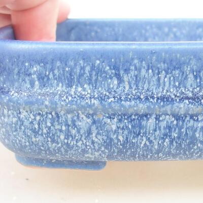 Keramische Bonsai-Schale 14 x 12 x 4 cm, Farbe blau - 2