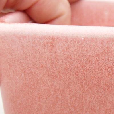 Bonsaischale aus Keramik 10 x 10 x 8 cm, Farbe rosa - 2