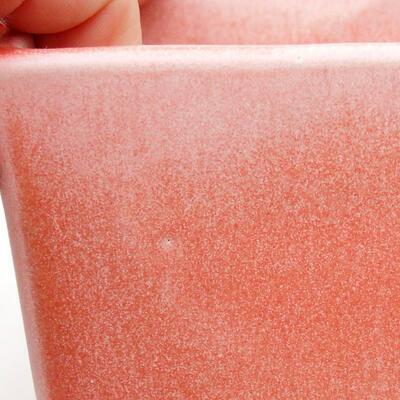 Bonsaischale aus Keramik 8,5 x 8,5 x 8,5 cm, Farbe rosa - 2