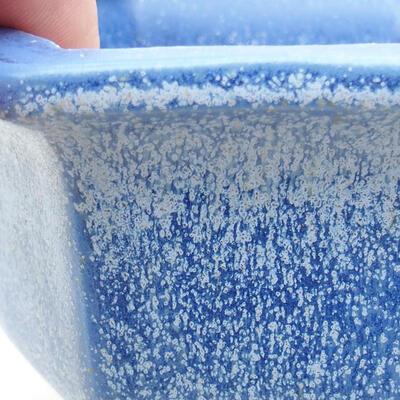Bonsaischale aus Keramik 12 x 10,5 x 7,5 cm, Farbe blau - 2