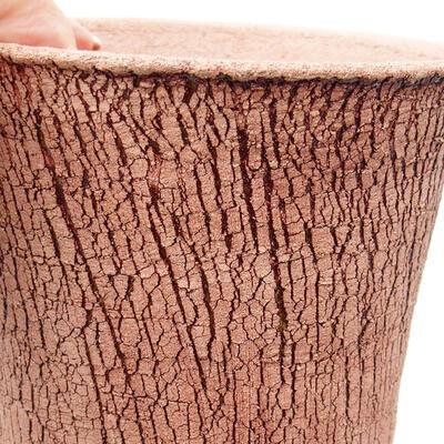 Bonsaischale aus Keramik 12 x 12 x 14 cm, Farbe rissig - 2