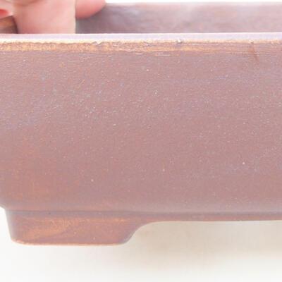 Keramische Bonsai-Schale 14,5 x 11 x 5 cm, graue Farbe - 2