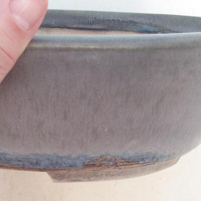 Bonsai-Schale 24 x 19,5 x 7,5 cm, grau-beige Farbe - 2