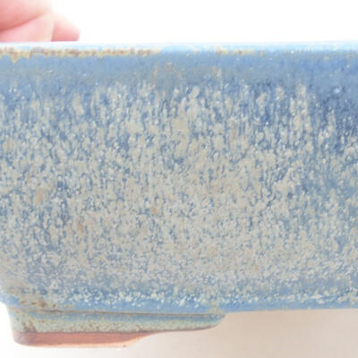 Keramische Bonsai-Schale 21 x 16 x 6,5 cm, Farbe blau - 2
