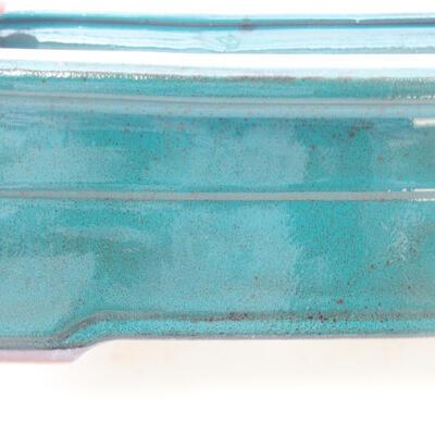 Keramische Bonsai-Schale 20 x 14,5 x 7 cm, Farbe grün - 2