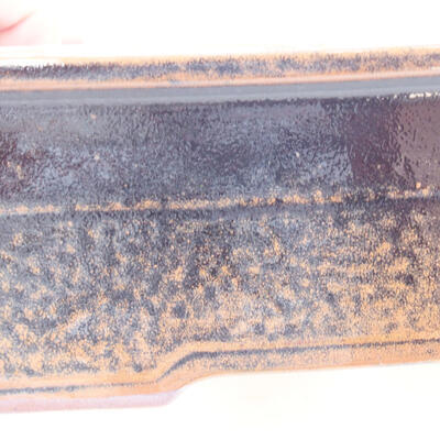 Keramische Bonsai-Schale 20 x 14,5 x 7 cm, Farbe schwarzbraun - 2