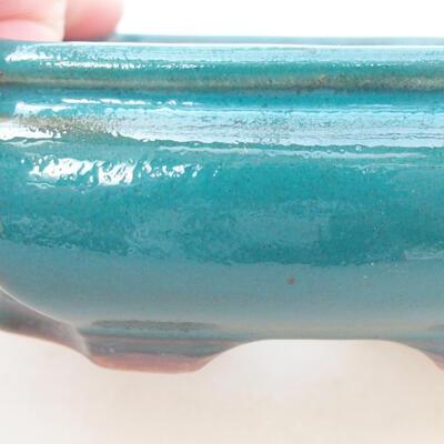 Keramische Bonsai-Schale 12,5 x 10,5 x 3,5 cm, Farbe grün - 2