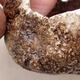 Keramikschale 7 x 4 x 4,5 cm, Farbe braun - 2/3