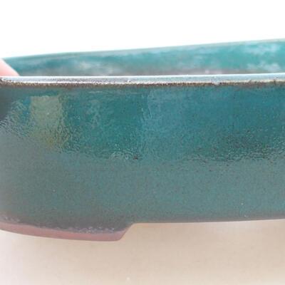 Keramische Bonsai-Schale 17 x 14 x 3,5 cm, Farbe grün - 2