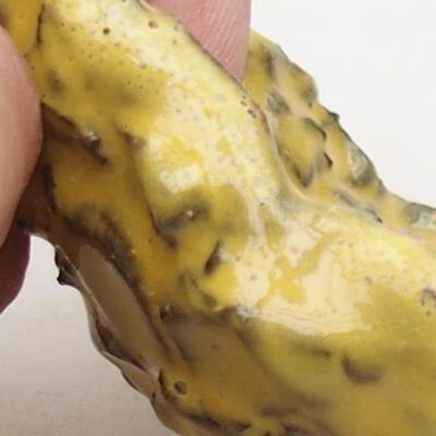 Keramikschale 8,5 x 6 x 5 cm, Farbe gelb - 2