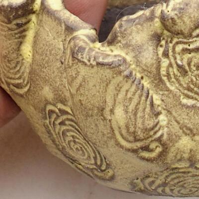 Keramikschale 6,5 x 5,5 x 6 cm, gelbe Farbe - 2
